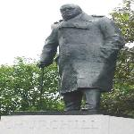 Winston Churchill's statue in London